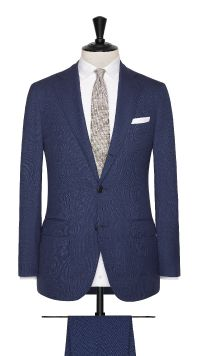 Blue Wool Plain Suit