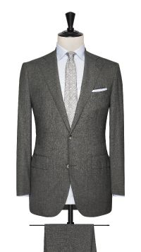 Grey Wool Plain Suit