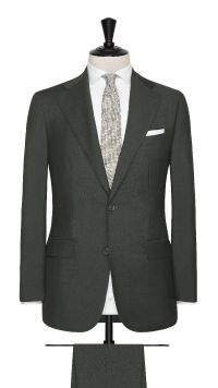 Green Wool and Mohair Plain Suit