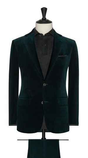 Green Curduroy Suit