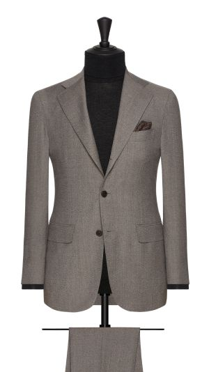 Brown and Grey Faux Plain Suit