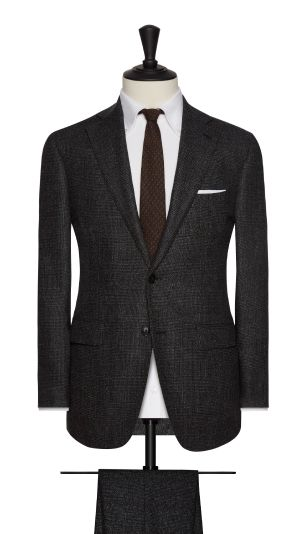 Grey and Brown Check Suit