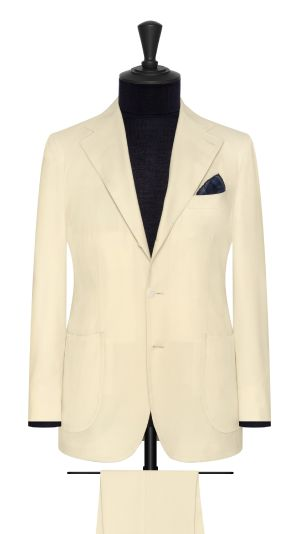 Ivory Twill Suit