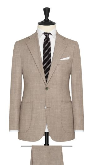 Taupe Basketweave Suit
