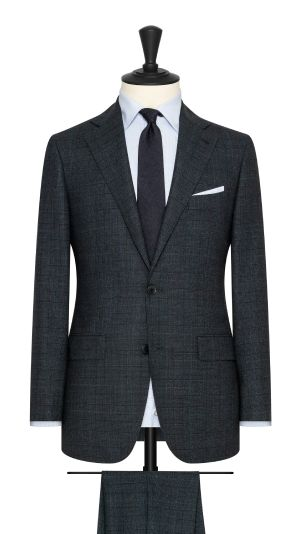 Blue, Green and Black Check Suit