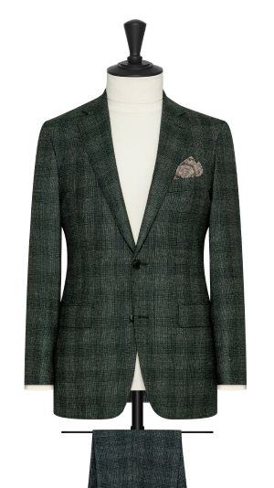 Green and White Suit