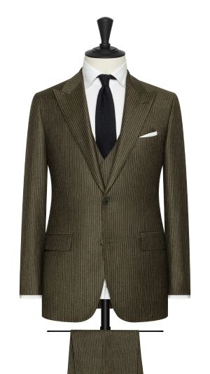 Green and White Houndstooth Suit