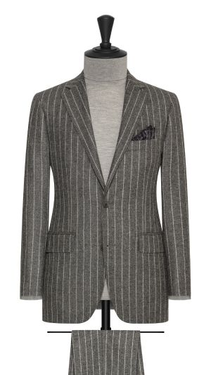 Grey and White Stripe Suit