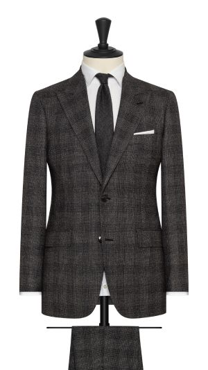 Grey and White Check Suit