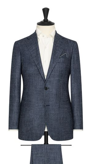 Blue Houndstooth Suit