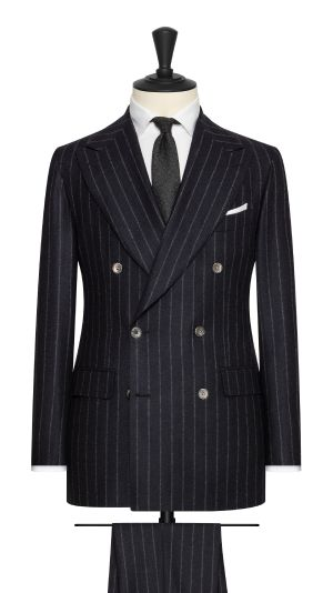 Blue and White Stripe Suit
