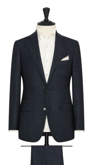 Blue and Black Check Suit