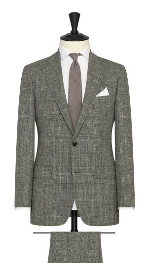 Green Tan and White Glencheck Suit