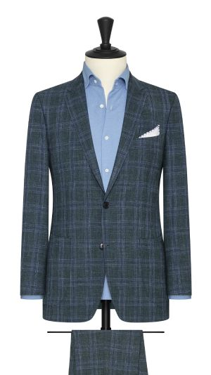 Green and blue Check Summertime Suit