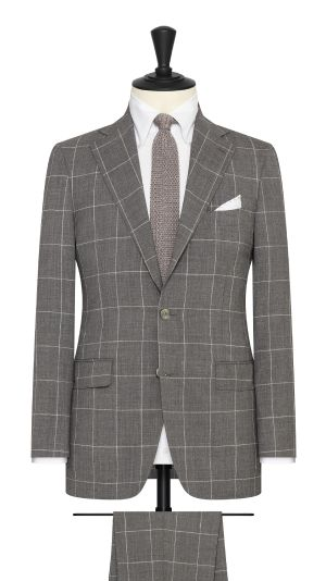 Mid Grey Windopane Summer Suit