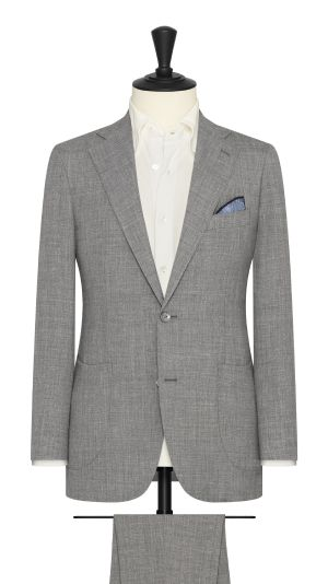 Medium Grey Stretch Linen Suit