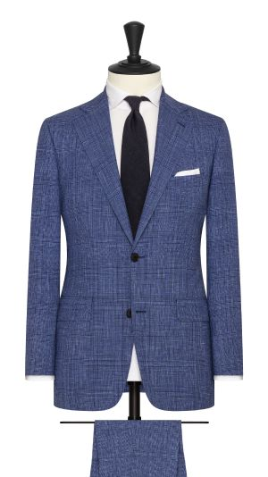 Blue and Black Glencheck Suit