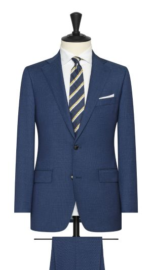 Royal Blue Micro Dot Suit