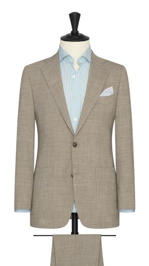 Sand Stretch Linen Suit
