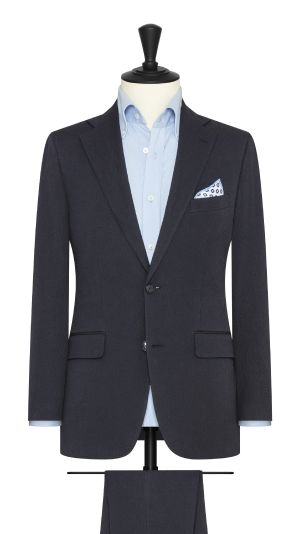 Midnight Blue Seersucker Suit