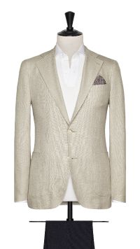 Beige Wool, Silk and Linen Jacket
