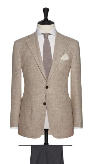 Beige Check Jacket