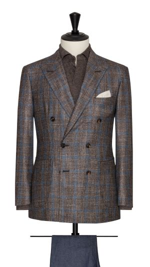 Brown and Blue Check Jacket
