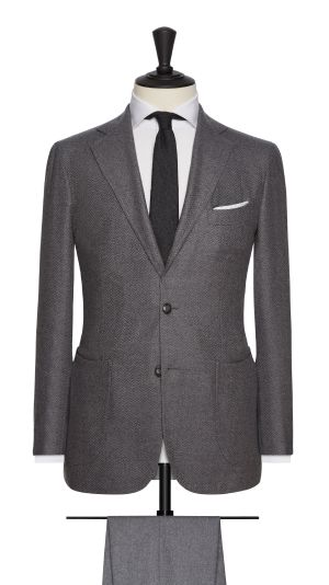 Grey Herringbone Jacket