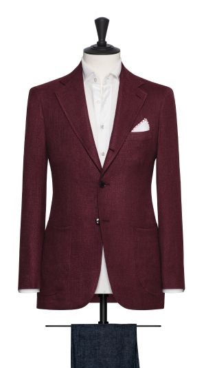 Burgundy Basketweave Jacket