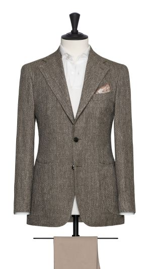 Taupe Herringbone Jacket