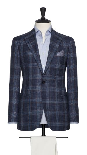 Blue and Rust Check Jacket