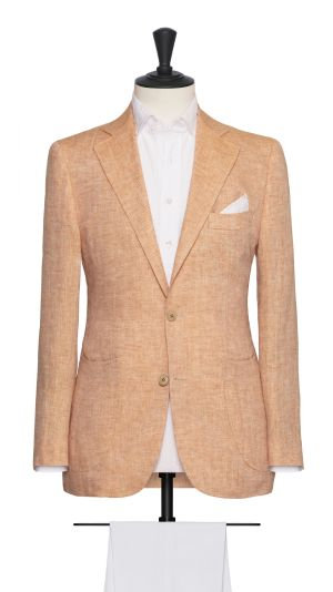 Orange Herringbone Jacket