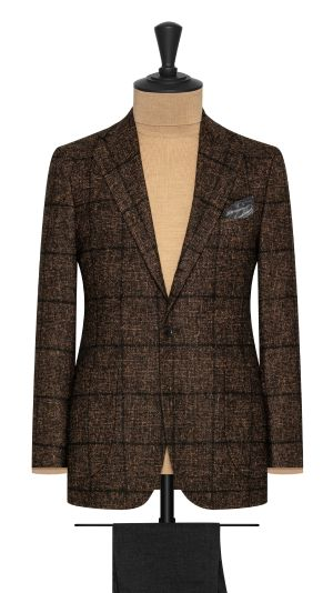 Brown and Black Check Jacket