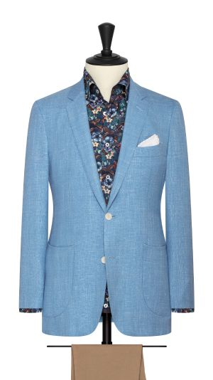 Sky Blue Basketweave Jacket
