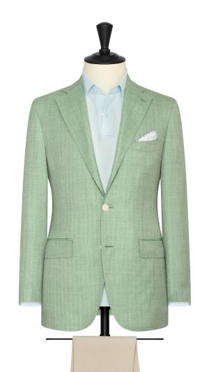 Green Herringbone Jacket