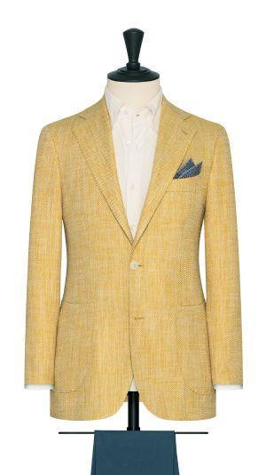 Bright Yellow Herringbone Jacket