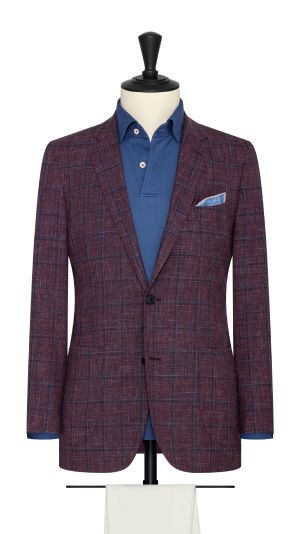 Grape and Blue Windowpane Jacket