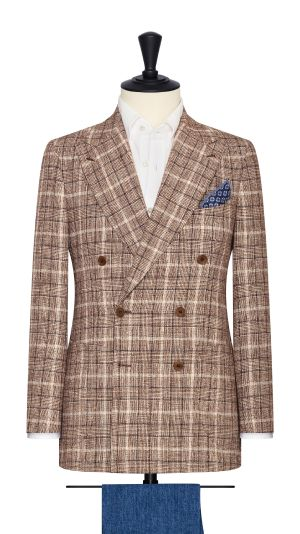 Brown Boucle Check Jacket