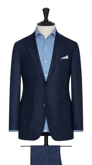 Navy and Royal Blue Houndstooth Jacket