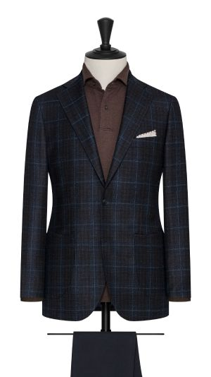 Blue, Black and Brown Check Jacket