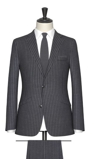 Grey Stripe Suit