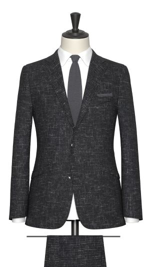 Black and Grey Houndstooth Suit