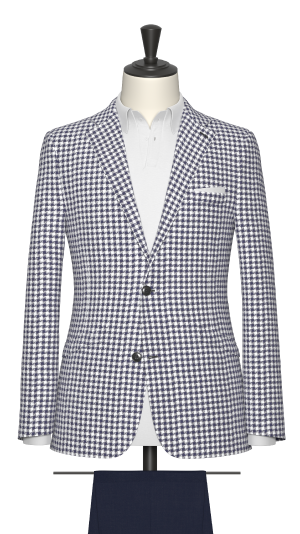 Blue and White Houndstooth Jacket