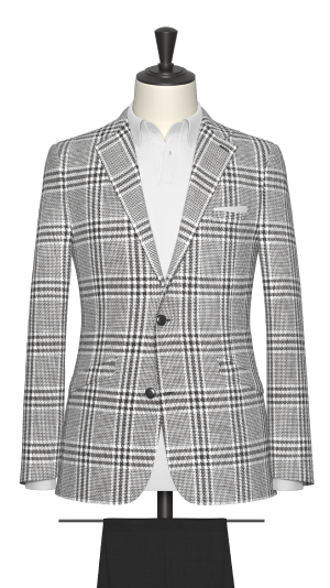 Black and White Check Jacket