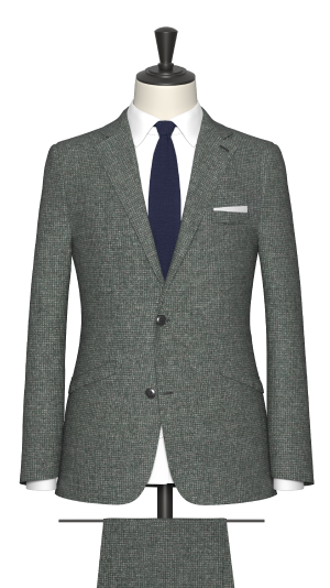 Blue, Green and Grey Micro Design Suit