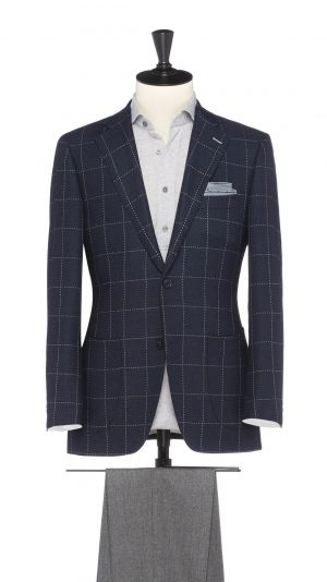 Blue Wool Check Jacket