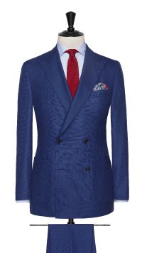 Blue Wool Birdseye Suit