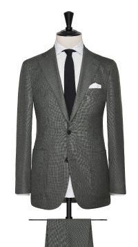 Grey Wool Basket Weave Suit