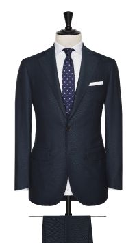 Green Wool Birdseye Suit