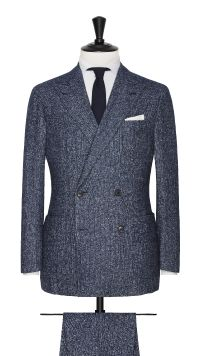 Blue Alpaca and Cotton Stripe Suit